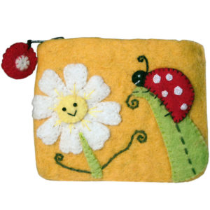 Daisy and Ladybug Fair Trade Natural Children's Purse -